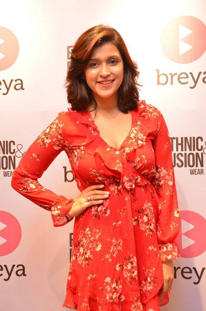 Mannara Chopra In Red Dress
