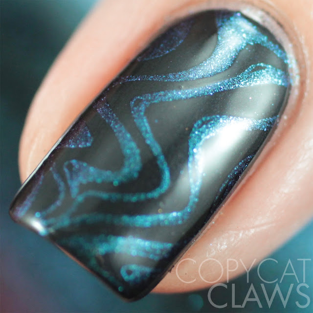 Moonflower Polish Celes-teal stamping polish