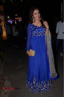 Telugu Actress Tejaswi Madivada Pos in Blue Long Dress at Nanna Nenu Na Boyfriends Audio Launch  0119.JPG