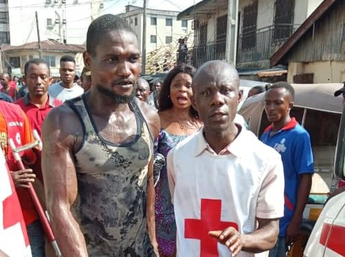 Updated: 6 trapped, 2 saved in Onitsha building collapse