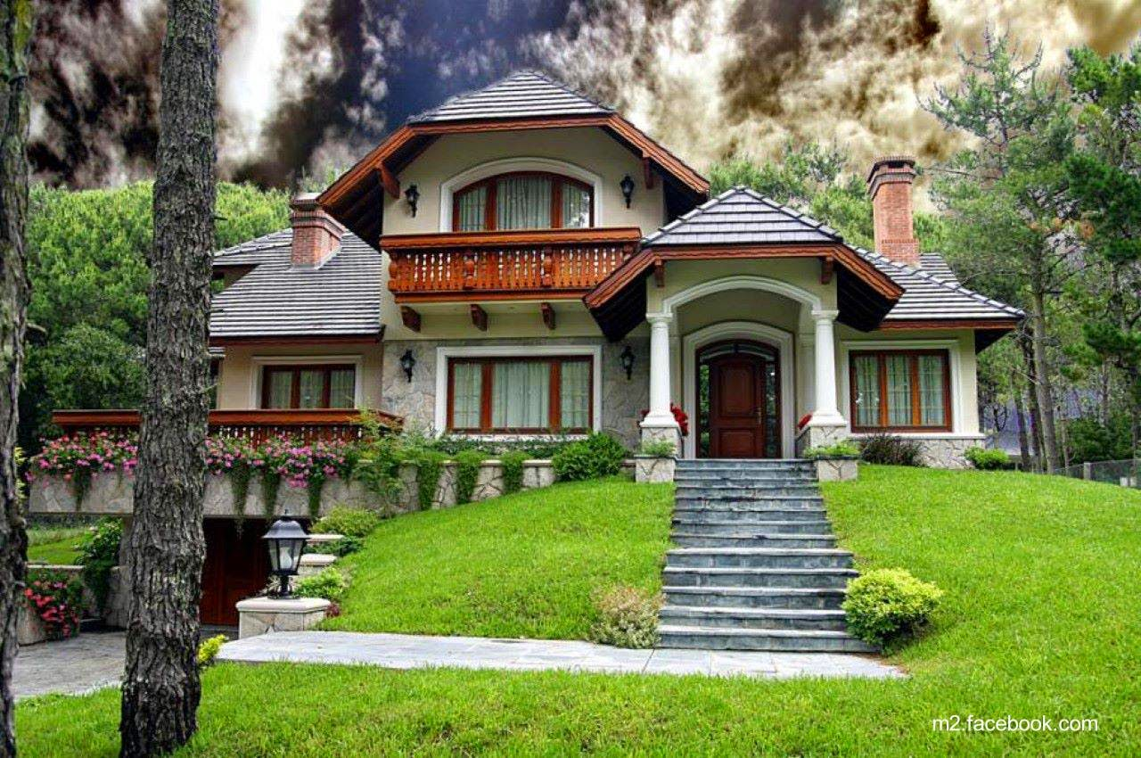 Arquitectura de casas 26 ejemplos de casas bonitas for Casa moderna wallpaper