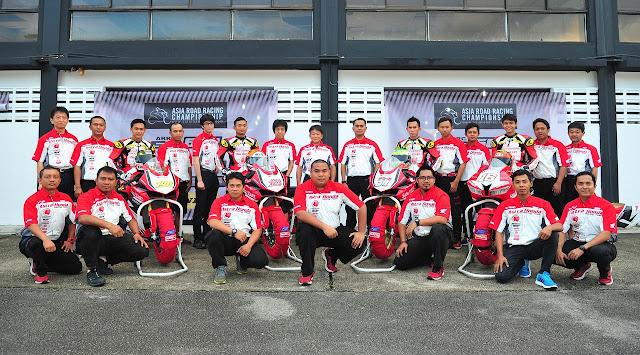 Astra Honda Racing Team menjadi juara kategori tim pada ajang Asia Road Racing Championsip Berita Terhangat Astra Honda Racing Team Kunci Gelar Juara ARRC 2017