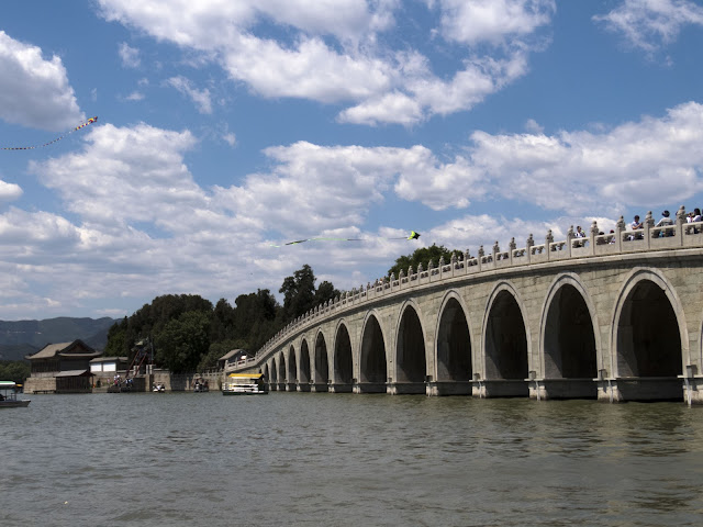 Shiqikong Bridge to Nanhu Island at the Summer Palace in Beijing China