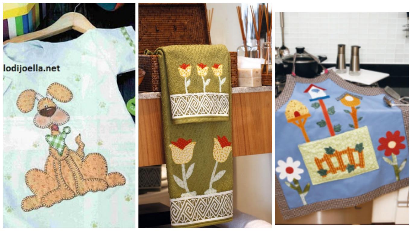 Moldes de apliques de retazos de tela para toallas - Apliques para cortinas ...