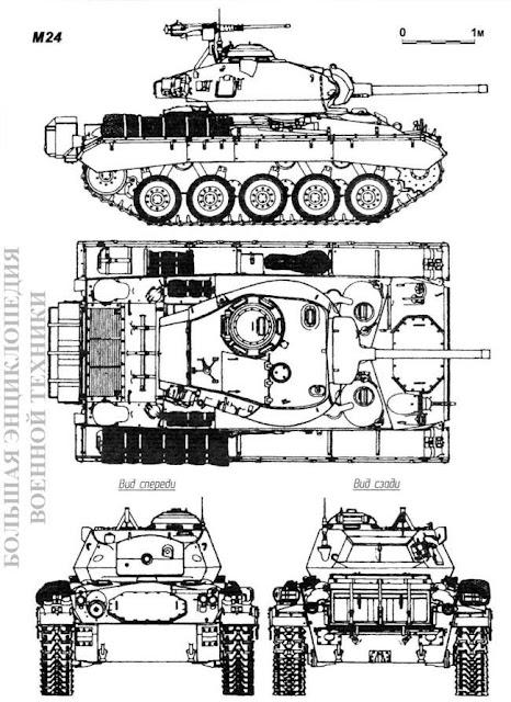 Общий вид американского легкого танка Light Tank M24 General Chaffee