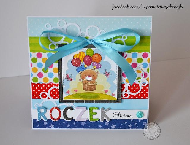 Mega kolorowa karteczka na roczek Oliviera