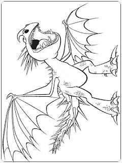 Ausmalbilder Drachenzähmen zum Ausdrucken