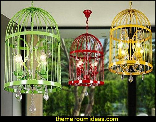 bird cage chandelier birdcage bedroom ideas - decorating with birdcages - bird cage theme bedroom decorating ideas - bird themed bedroom design ideas - bird theme decor - bird theme bedding - bird bedroom decor