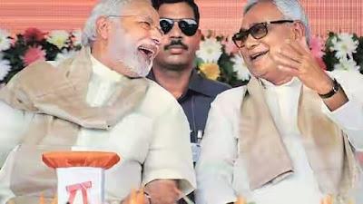 Nitish kumar with narendra modi www.sachhikhabars.blogspot.com