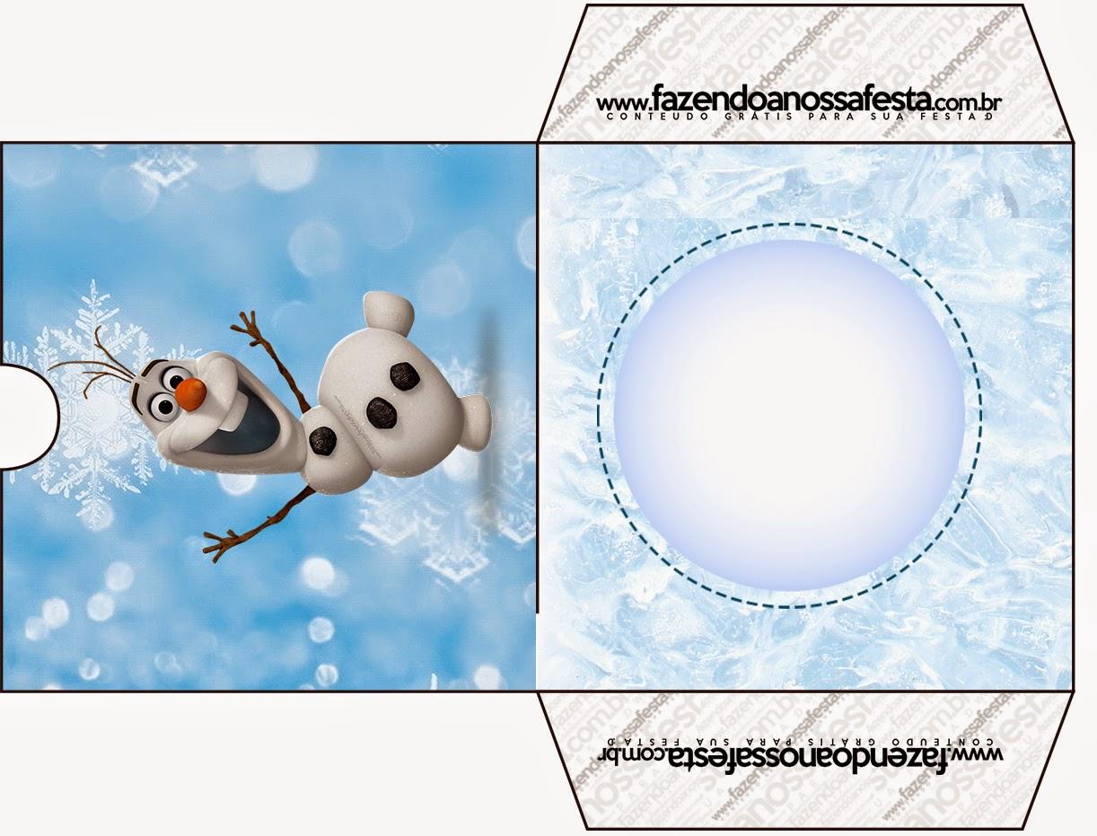Funda de Olaf para CD's para imprimir gratis.