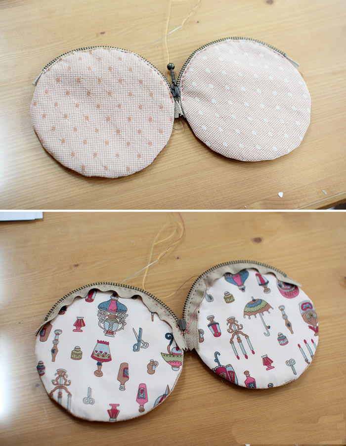 Simple handbag: flower appliqué tutorial. DIY tutorial in pictures.