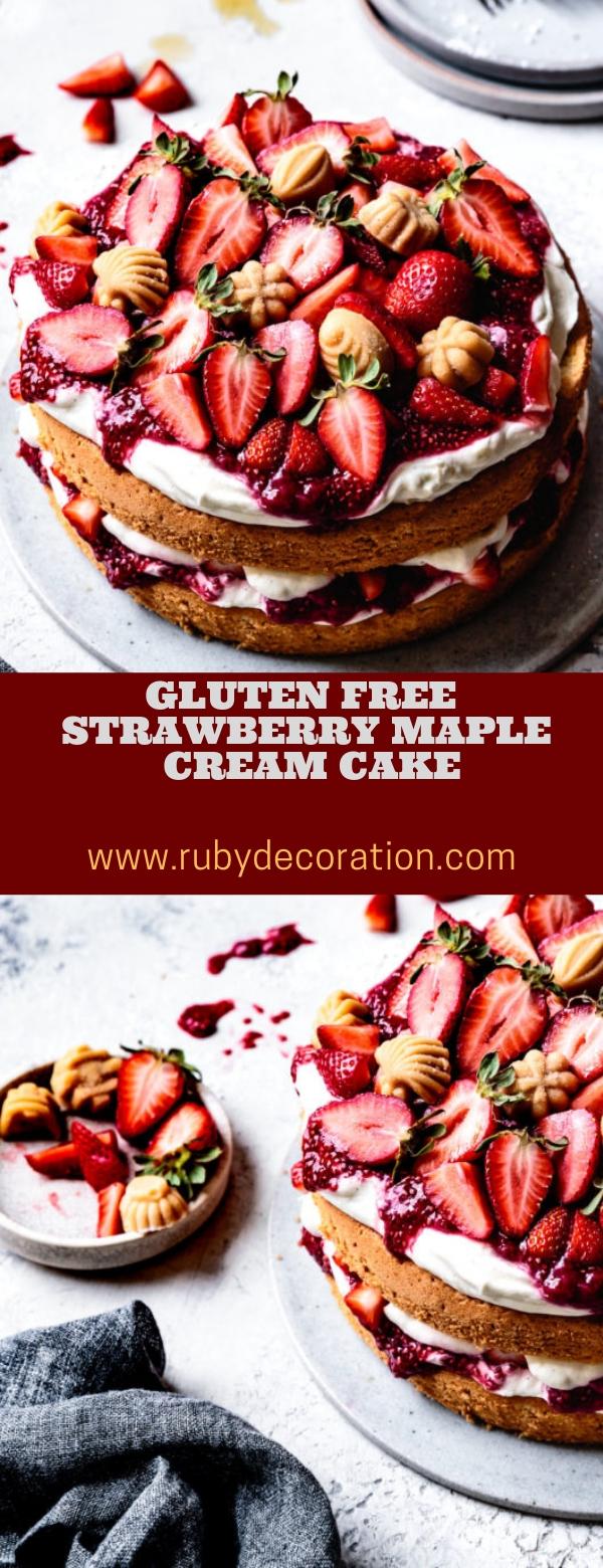 GLUTEN FREE STRAWBERRY MAPLE CREAM CAKE