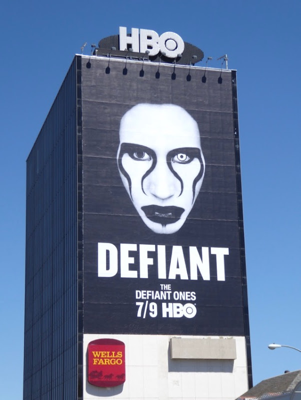 Giant Marilyn Manson Defiant billboard