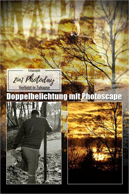 2in1 Fotoprojekt: Doppelbelichtung (Double exposure / Mehrfachbelichtung) in Photoscape: Der Predator