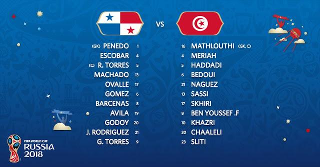 Starting Lineup: Panama vs Tunisia (Live Stream)