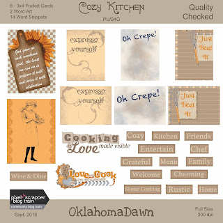 Pixel Scrapper Blog Train - Cozy Kitchen add-on - Freebie