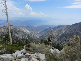 View southwest from summit 8921