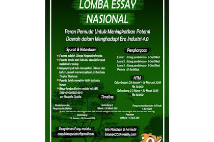 Lomba Menulis Essay Nasional BIOEXPO 2019 Mahasiswa