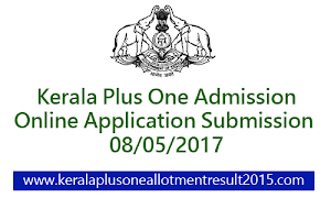Kerala Plus One (+1) admission 2017 - HSCAP Online registration will starts on 8/5/2017