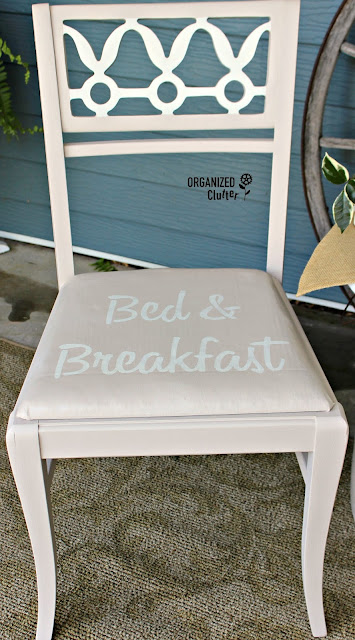 Thrift Shop Chair Makeover with Fusion Mineral Paint & Old Sign Stencils