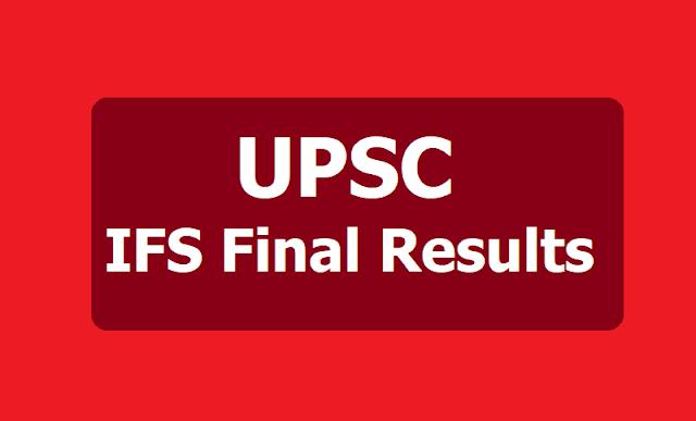 UPSC IFS Final Results