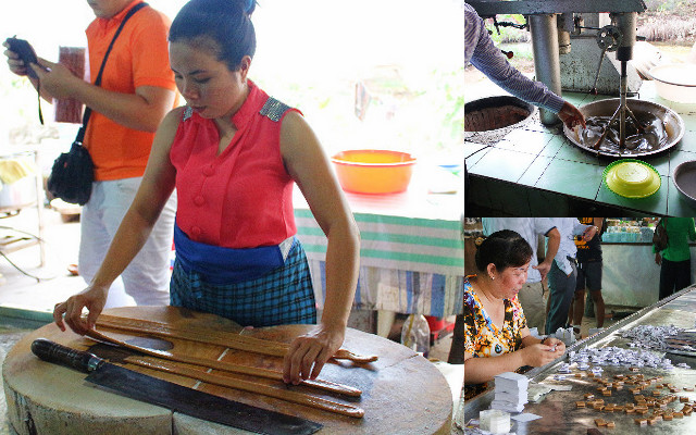 pabrik permen kelapa sungai mekong delta