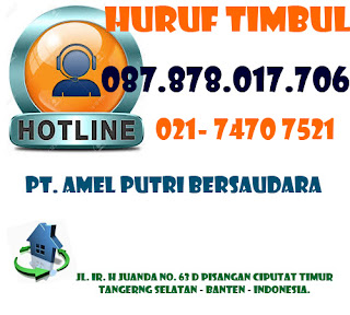 Huruf Timbul Acrylic Jakarta | Huruf Timbul Acrylic
