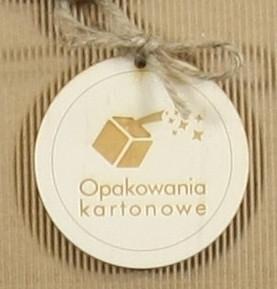 zawieszka ze sklejki z logo firmy