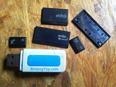 Trik Mengubah Casing FlashDisk Menjadi Motif KeyBoard