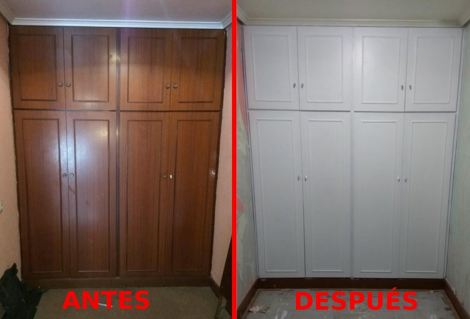 Manualidades el caj n de pandora armario restaurado - Cambiar color muebles ...