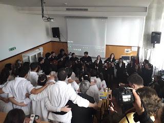 Cerimónia de encerramento de curso