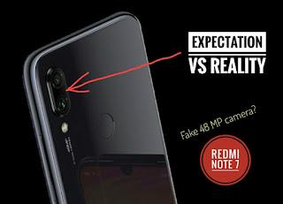fake 48 mp camera of redmi note 7