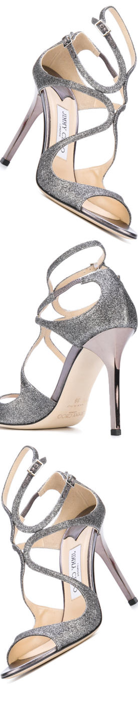 Jimmy Choo Lang Strappy Sandal shown in Silver