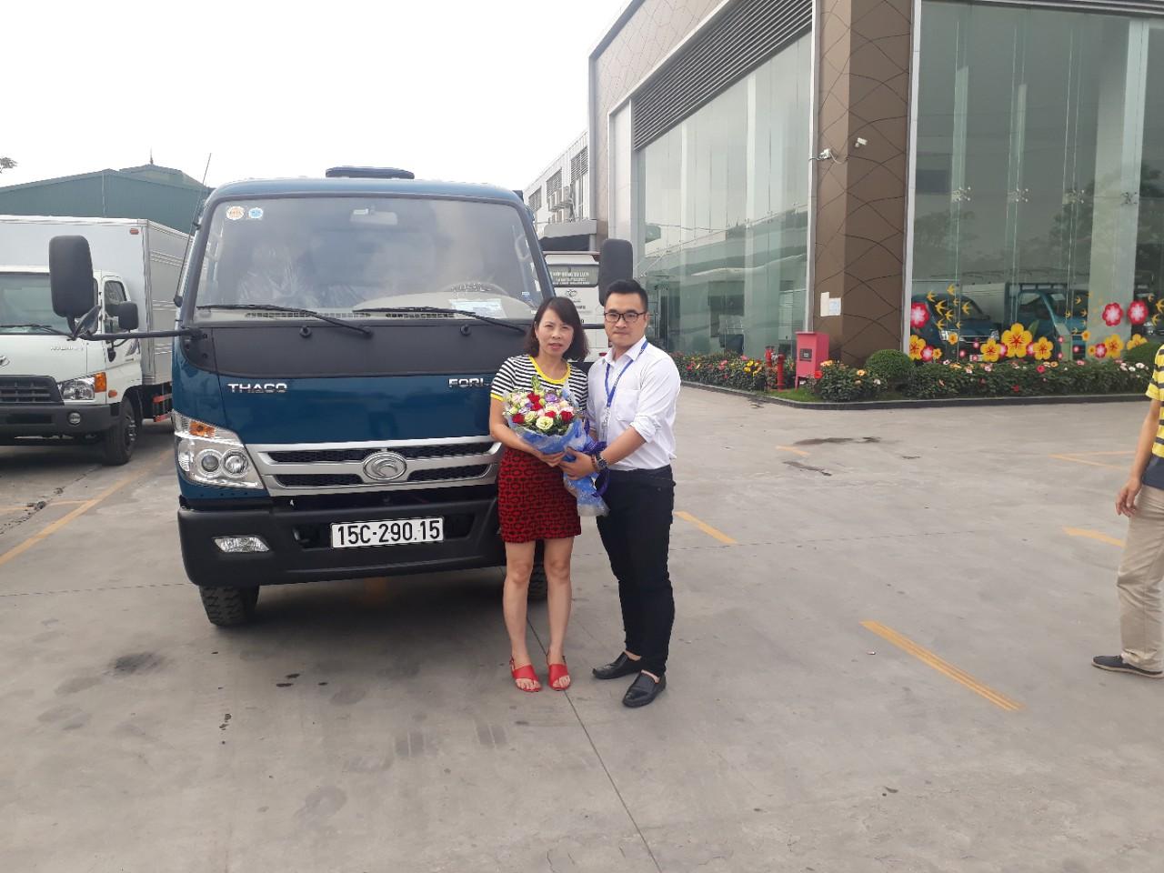 Khách hàng mua xe ben Thaco Fld490C tải trọng 5 tấn tại Hải Phòng
