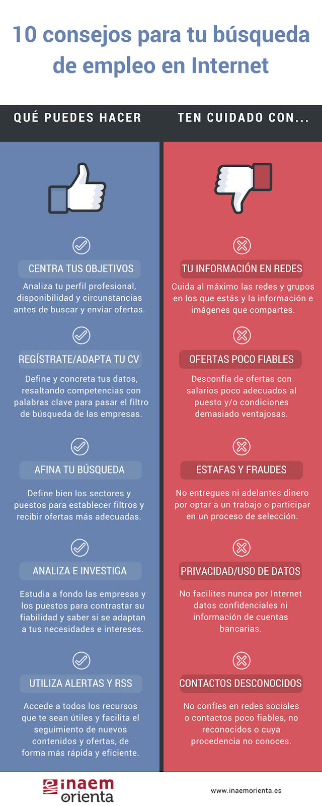 Infografía, 10 consejos para tu búsqueda de empleo en Internet