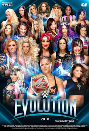 Poster Of WWE Evolution PPV 28th October 2018 HDTV 480P 300MB
