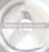 Harina de arroz casera