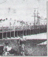 Early 19th century image of the Charles River Bridge