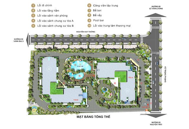 Mặt bằng tổng thể dự án Rivera Park Hà Nội