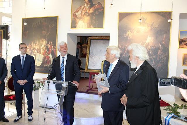 Π. Τατούλης: Έναυσμα του εορτασμού της Πελοποννήσου για τα 200 χρόνια Παλιγγενεσίας η έκθεση του Θεόδωρου Βρυζάκη