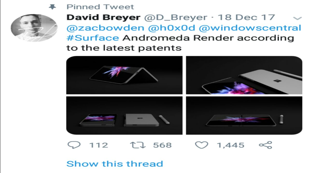 microsoft working on a foldable surface phone, lg to provide the display