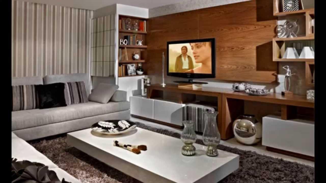 Construindo Minha Casa Clean Decora O Sala De Estar Com Tv Pequena  -> Decoracao De Sala De Estar Pequena Com Sofa De Canto
