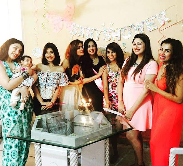 TV Actress Chahat Khanna's baby shower photos