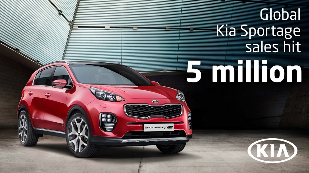 Kia Sportage hits five million global sales