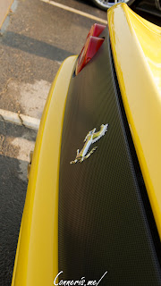 Yellow Ferrari F355 Rear