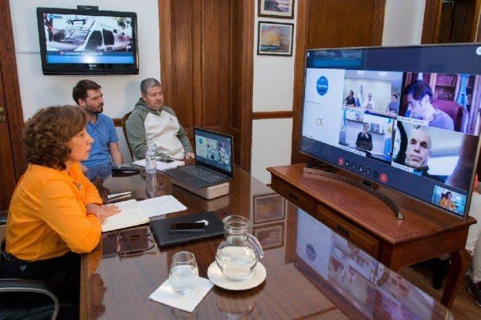 Videoconferencia Carreras y el Presidente