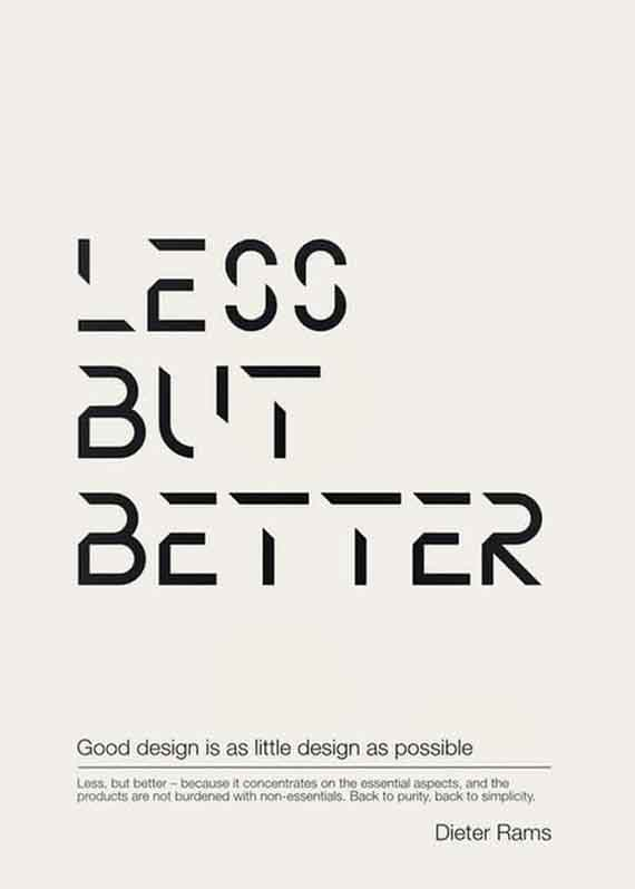 typography motivation al posters minimal style