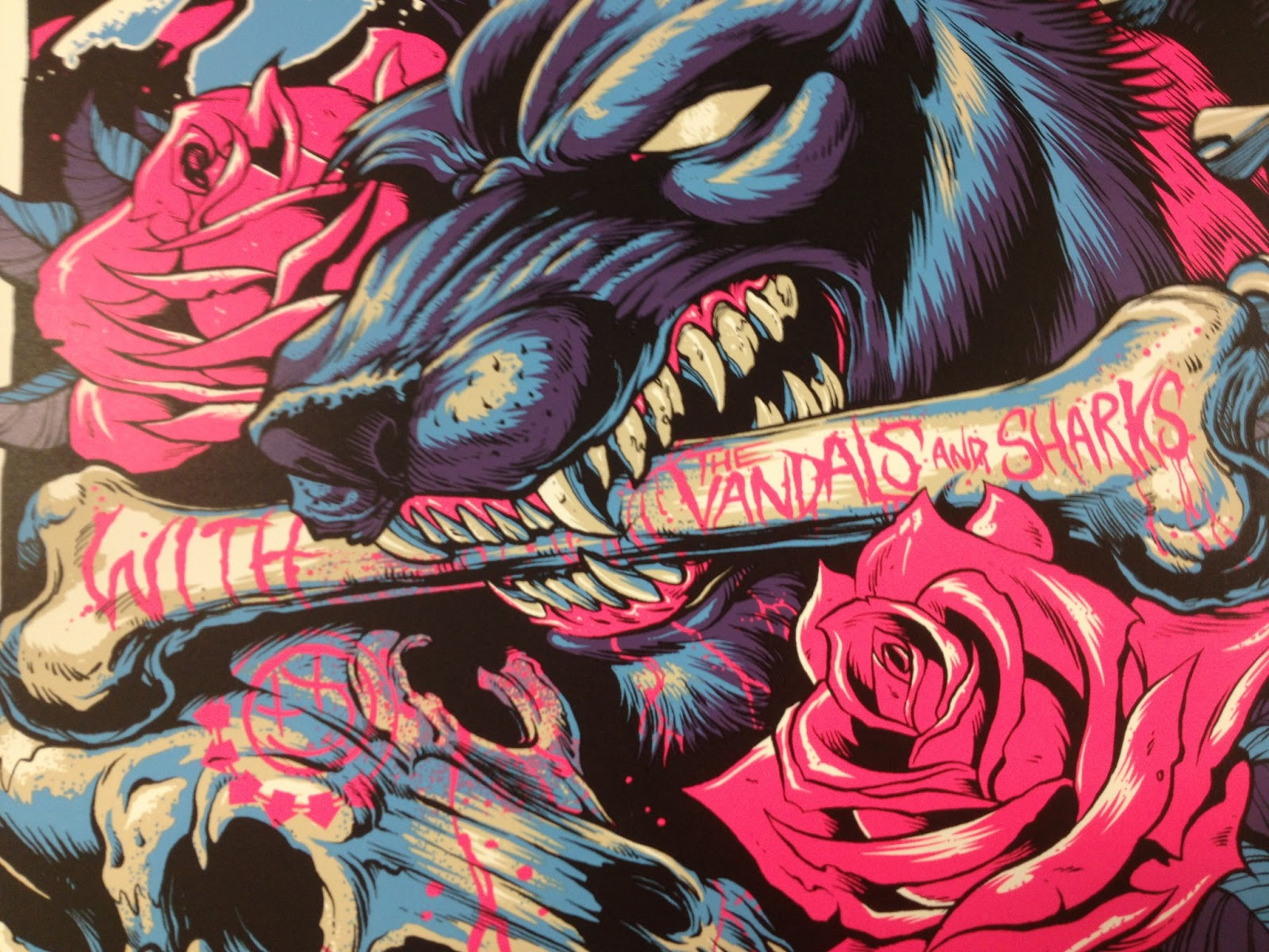 INSIDE THE ROCK POSTER FRAME BLOG: Tonight\'s blink-182 poster from ...