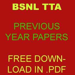 Bsnl tta previous year question papers pdf | bsnl tta sample.