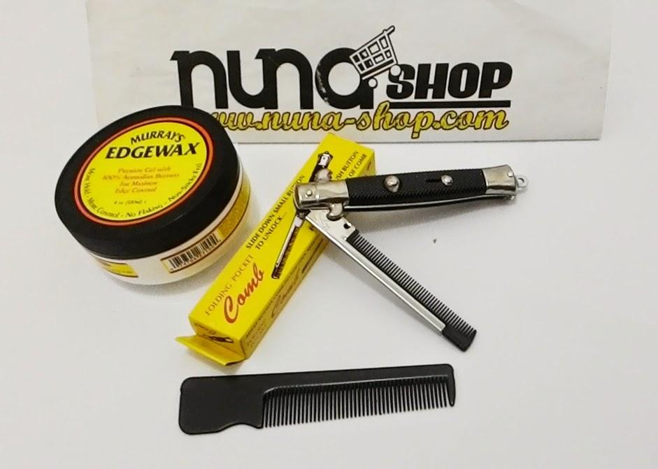 Paket Hemat Pomade Murray's Edgewax + Switchblade Comb